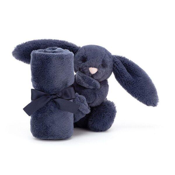 Szmatka przytulanka z królikiem granatowy