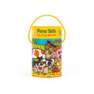 """Puzzle dla niemowląt farma z kolekcji """"Mojepierwsze puzzle"""" to komplet puzzli z 4 obrazkami w zwierzątka mieszkające na wsi."""