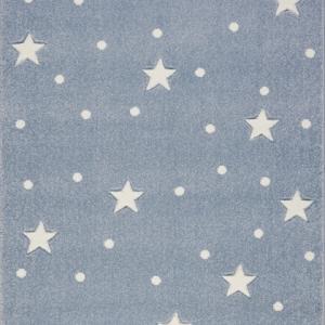 Dywan dziecięcy galaxy niebieski w gwiazdki