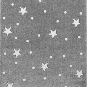 Dywan dziecięcy galaxy szary w gwiazdki