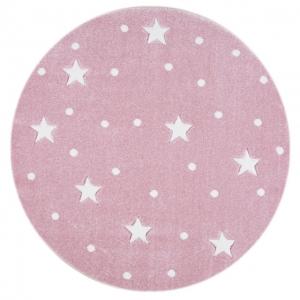 Dywan dziecięcy okrągły galaxy w gwiazdki