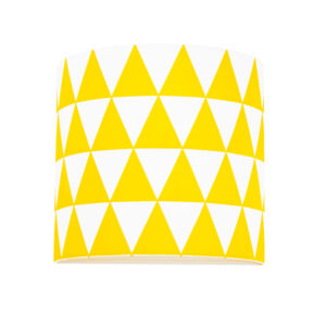 Lampa ścienna żółte trójkąty