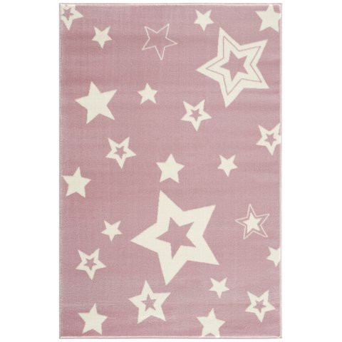 Dywan dziecięcy starlight różowo biały