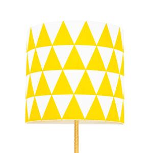 Lampa ścienna z kablem żółte trójkąty