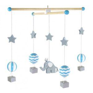 Karuzela nad łóżeczko balony niebieski