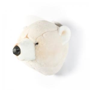 Trofeum na ścianę biały miś Basile