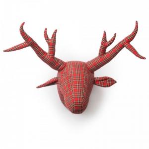 Trofeum na ścianę jeleń Wiliam szkocka krata