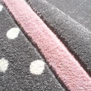 19656 kinderteppich happy rugs point silbergrau rosa 4 300x300 - Dywan dziecięcy szary w kropki