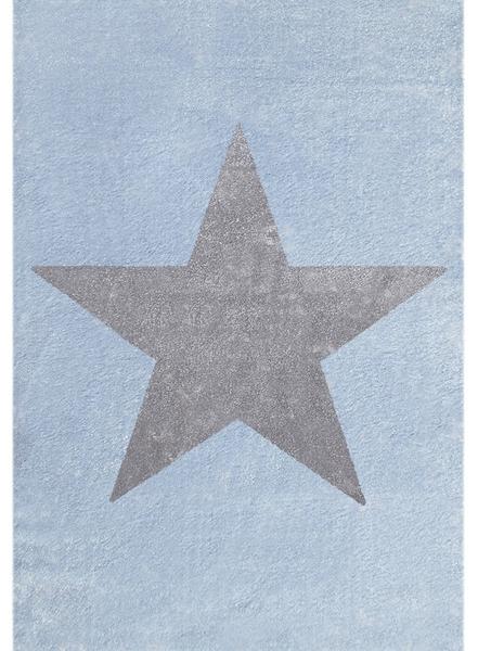 Dywan dziecięcy niebieski z gwiazdą