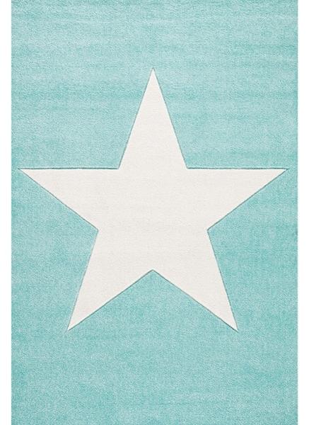 Dywan dziecięcy miętowy z gwiazdą
