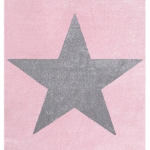 Dywan dziecięcy różowy z gwiazdą