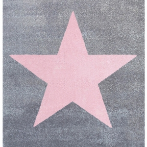 Dywan dziecięcy szary z gwiazdą