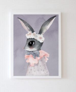 Plakat na ścianę króliczek Eeli