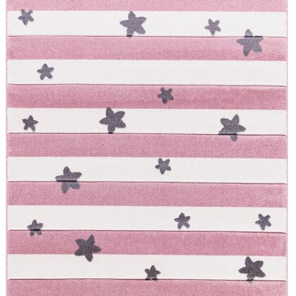 Dywan dziecięcy Stars & Stripes róż