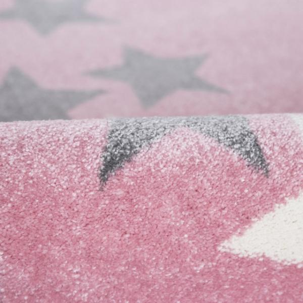 Dywan dla dzieci borderstar różowy