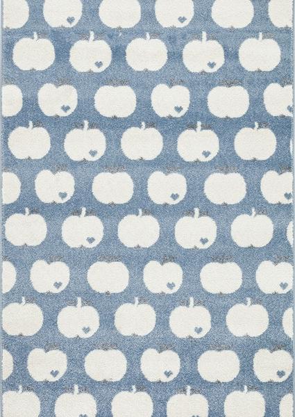 Dywan dla dzieci niebieski jabłka