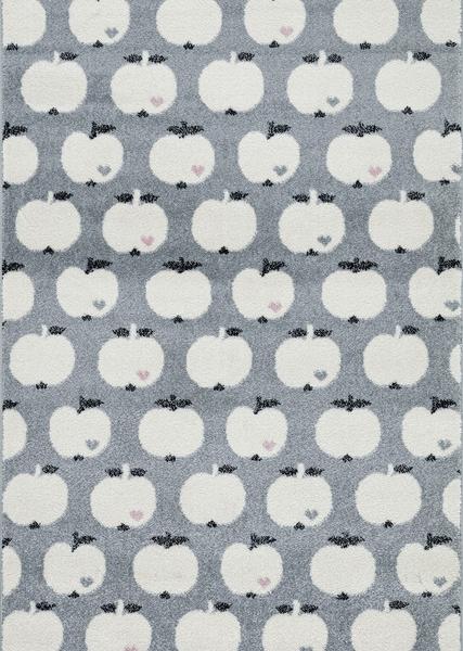 Dywan dla dzieci szary jabłka