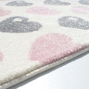 Dywan dla dzieci różowy szaro różowe serduszka
