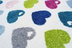 Dywan dla dzieci kolorowe serduszka