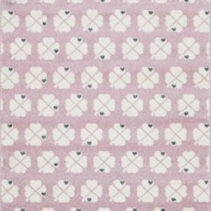 Dywan dla dzieci różowy w koniczynki