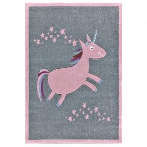 21094 kinderteppich happy rugs einhorn silbergrau 1 300x300 - Szary dywan dla dzieci jednorożec