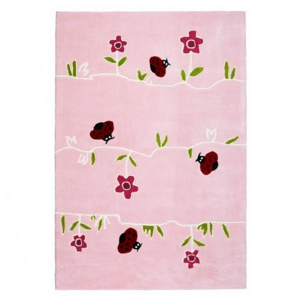 Dywan dla dzieci różowy w kwiatki