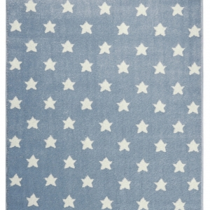 Dywan dla dzieci niebieski w gwiazdki