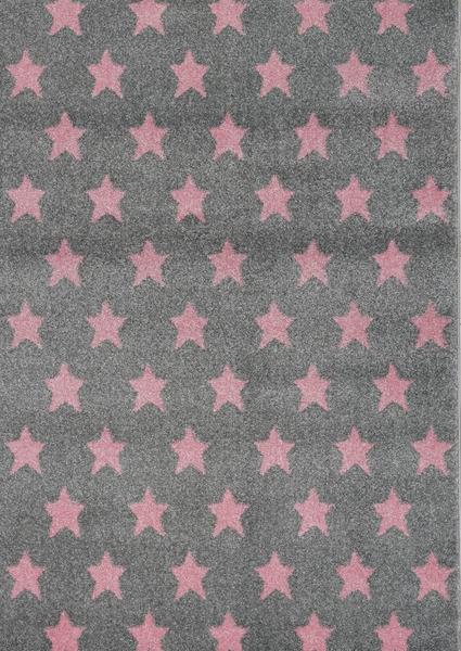 Dywan dla dzieci szary w gwiazdki