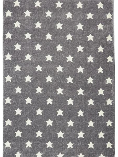 Dywan dla dzieci szary w białe gwiazdki