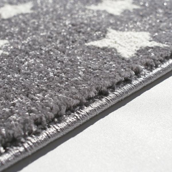 24302 kinderteppich kids love rugs dreamstar silbergrau weiss 4 600x600 - Dywan dla dzieci szary w białe gwiazdki
