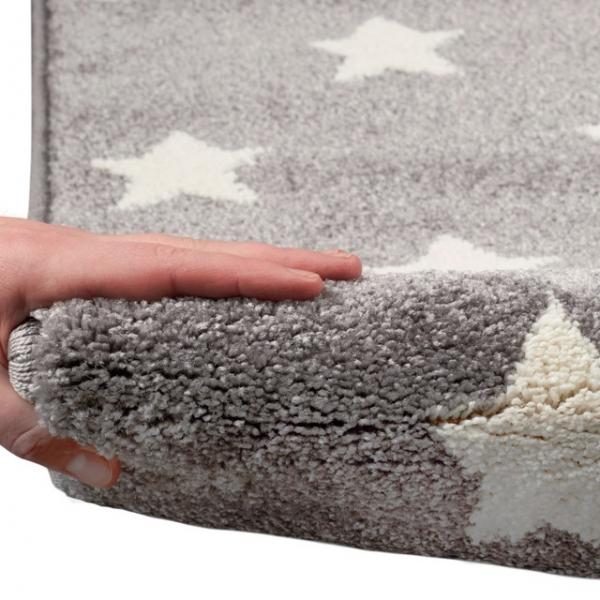 24304 kinderteppich kids love rugs dreamstar silbergrau weiss 3 600x600 - Dywan dla dzieci szary w białe gwiazdki