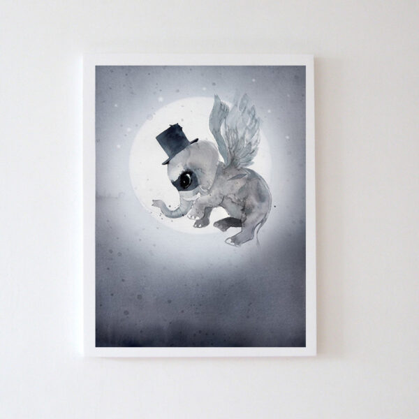 Plakat na ścianę słonik Nuutti