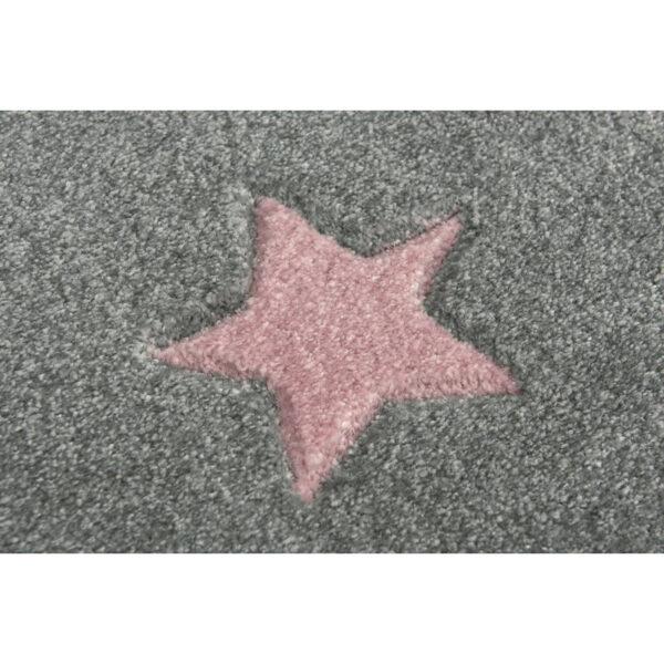 31636 kids rug happy rugs cloud seven silver gray creme 120x180cm 28 2 600x600 - Dywan okrągły szary w różowe gwiazdki galaxy