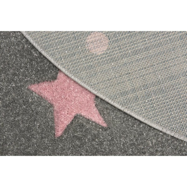 31638 kids rug happy rugs cloud seven silver gray creme 120x180cm 28 5 1 600x600 - Dywan okrągły szary w różowe gwiazdki galaxy