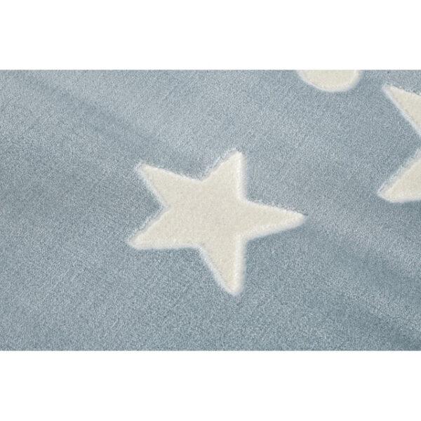 31690 kids rug happy rugs estrella blue white 120x180cm 2 2 600x600 - Dywan dla dzieci niebieski w gwiazdy