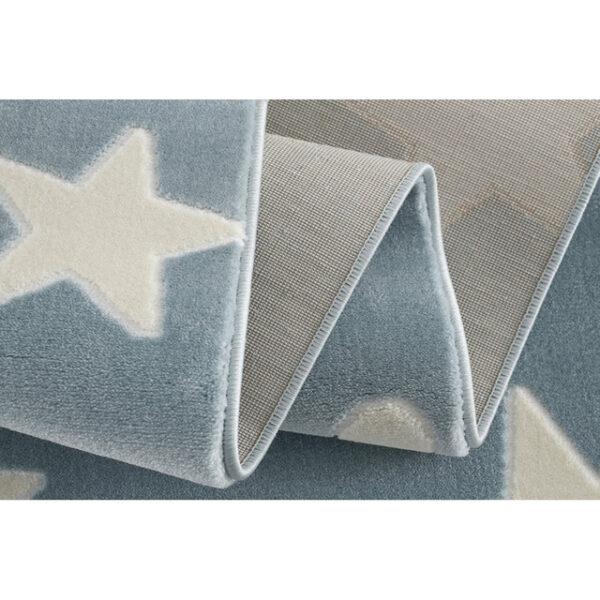 31692 kids rug happy rugs estrella blue white 120x180cm 3 2 600x600 - Dywan dla dzieci niebieski w gwiazdy