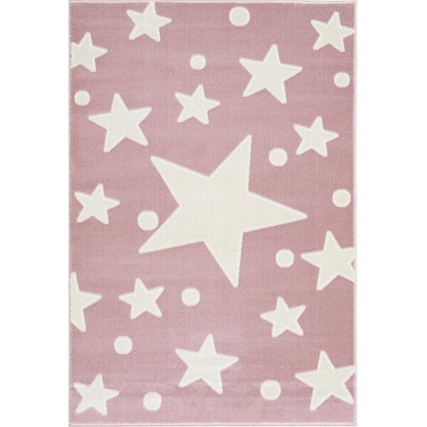 Dywan dla dzieci różowy w gwiazdy
