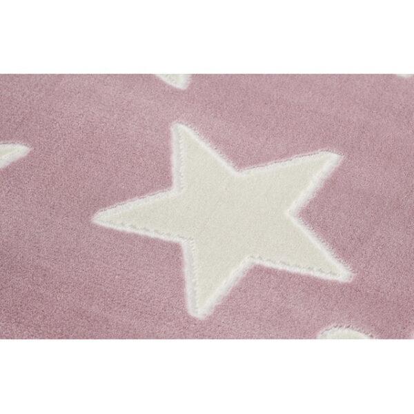 31698 kids rug happy rugs estrella pink white 100x160cm 2 600x600 - Dywan dla dzieci różowy w gwiazdy
