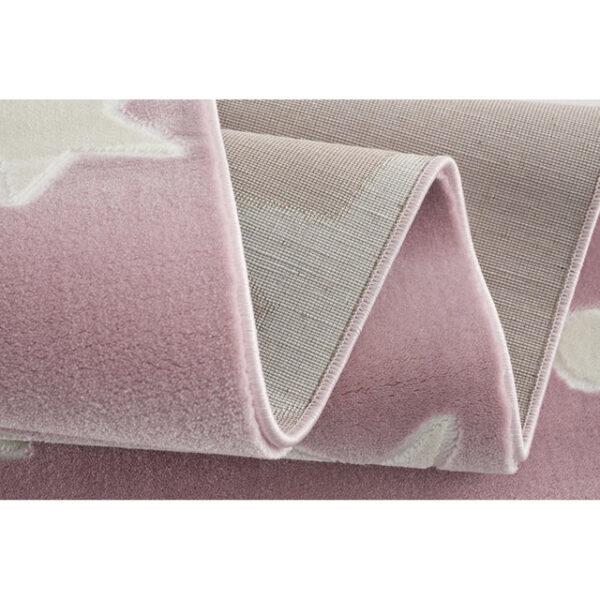 31702 kids rug happy rugs estrella pink white 100x160cm 3 600x600 - Dywan dla dzieci różowy w gwiazdy