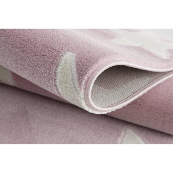 31704 kids rug happy rugs estrella pink white 100x160cm 4 600x600 - Dywan dla dzieci różowy w gwiazdy