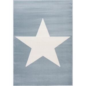 Dywan dziecięcy niebieski z białą gwiazdą