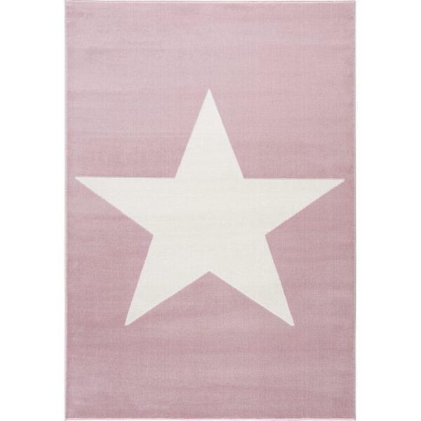 Dywan dziecięcy różowy z białą gwiazdą