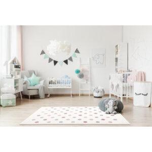 Dywan dziecięcy confetti Cream and Pink