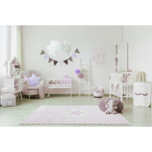 Dywan dziecięcy Decostar Pink and White