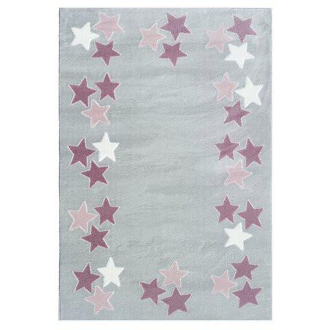 Dywan dla dzieci borderstar w różowe gwiazdki