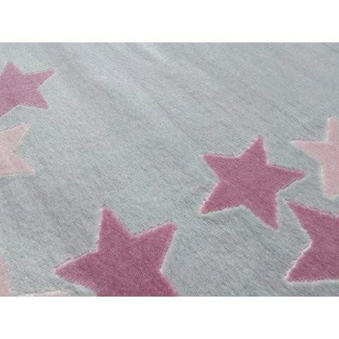 32212 kids rug happy rugs spring silver grey pink 120x180cm 3 - Dywan dla dzieci borderstar w różowe gwiazdki