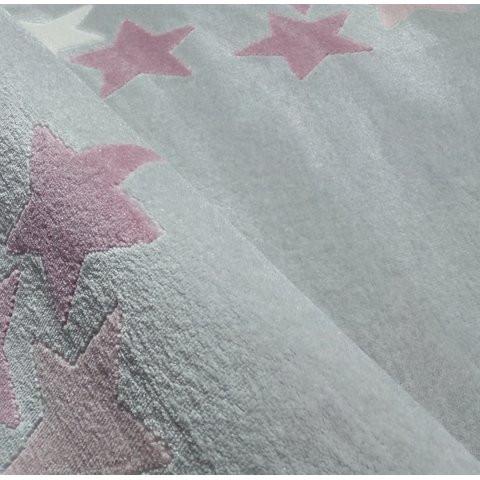 32214 kids rug happy rugs spring silver grey pink 120x180cm 4 - Dywan dla dzieci borderstar w różowe gwiazdki