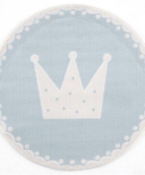 Dywan szary okrągły korona