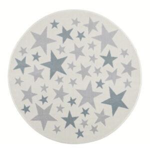Dywan kremowy okrągły gwiazdki