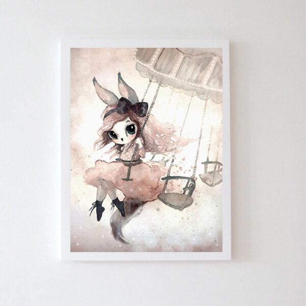 Plakat na ścianę dziewczynka Eevi
